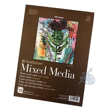 Bloc de papier Mixed Media Strathmore S400 A4