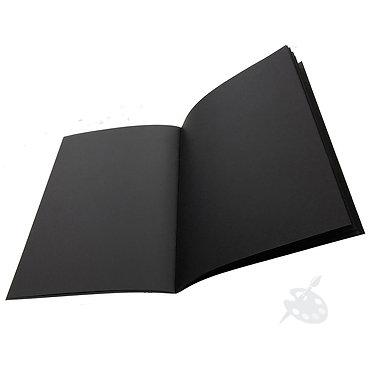 Cahier de feuilles noirs A4 de Seawhite