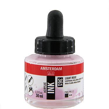 Encre Acrylique Amsterdam Rose Clair 361