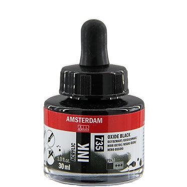 Encre Acrylique Amsterdam Noir Oxyde 735