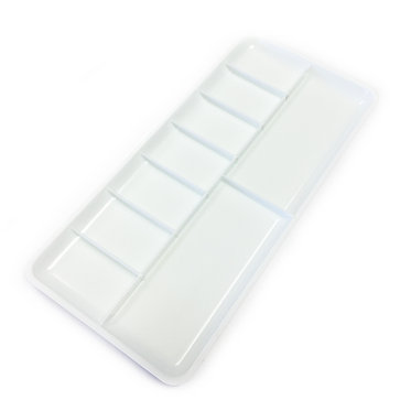 Palette en plastique rectangle 9 trous Royal & Langnickel