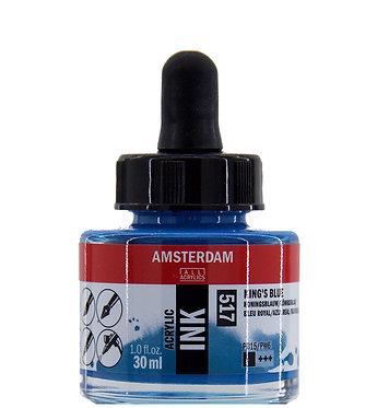 Encre Acrylique Amsterdam Bleu Royal 517