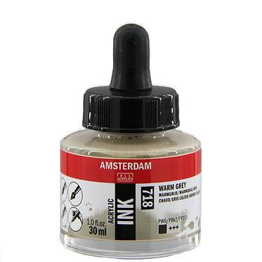 Encre Acrylique Amsterdam Gris Chaud