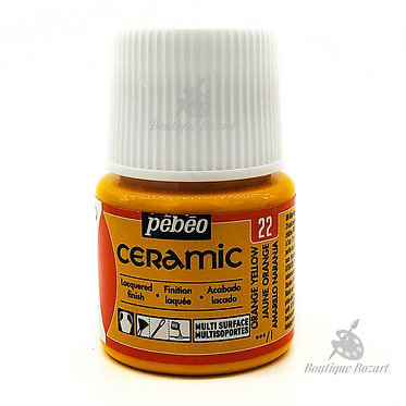 Ceramic Froid Pébéo 45ml Jaune Orange