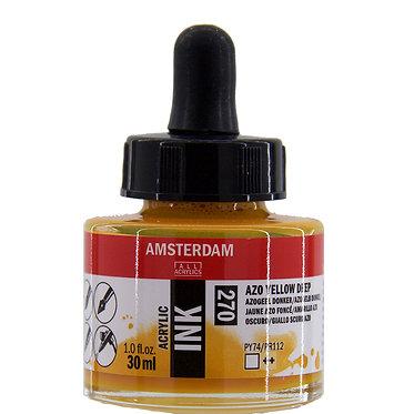 Encre Acrylique Amsterdam Jaune Azo Foncé 270