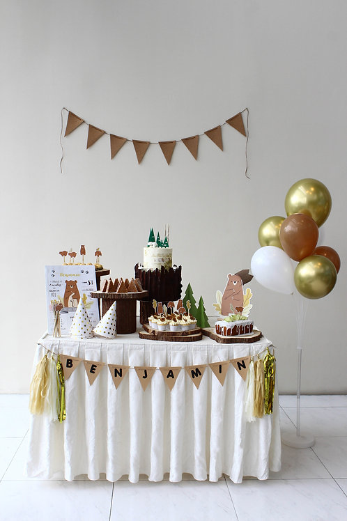 Rustic Bear DIY Party Kit