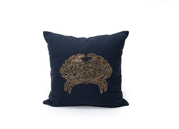 Beaded Crab Cushion