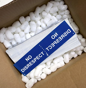 NO DISRESPECT bumper sticker