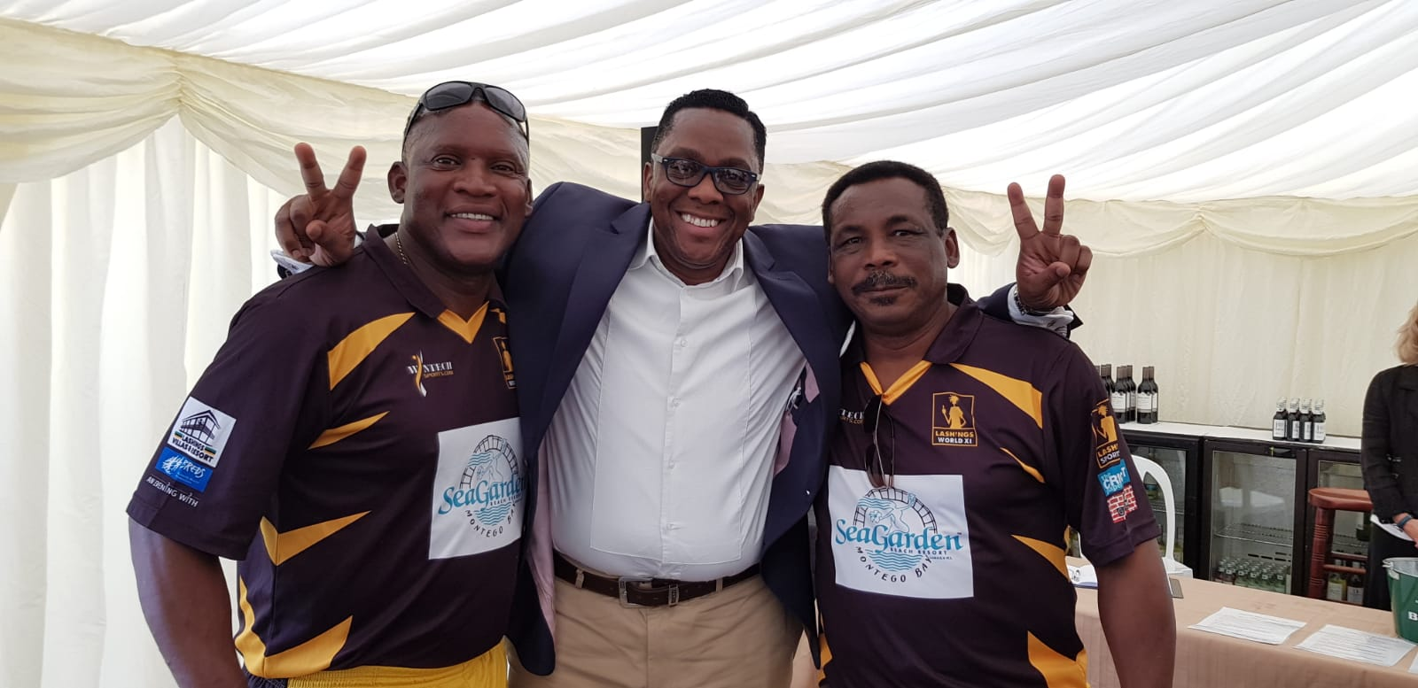Devon Malcolm and Gordon Greenidge