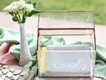 Rose Gold Glass Card Box