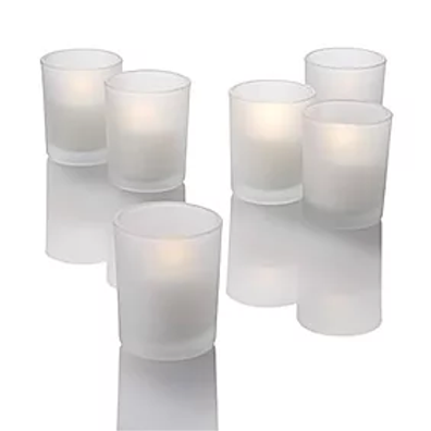 Frosted Votive with Real Candle