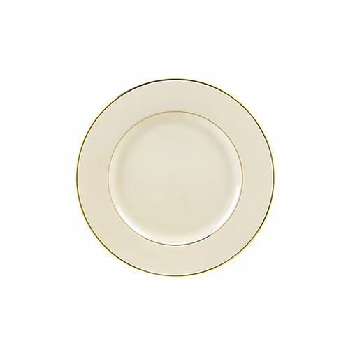 Ivory Double Gold Rimmed Dessert Plates