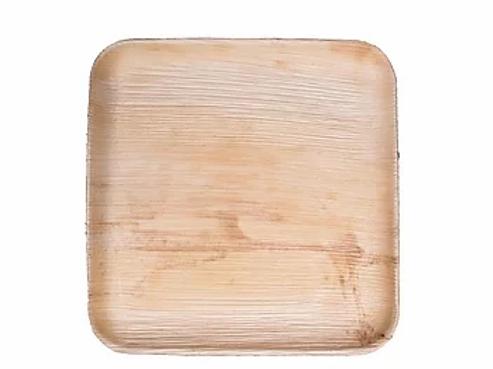 10x10 Square Pressed Palm Leaf Plate