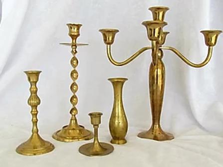 Vintage Brass Candlesticks Holders