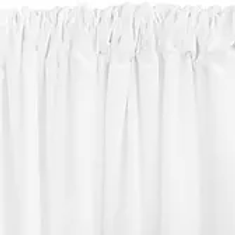 8' White Drape
