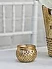 Gold Mercury Glass Votive