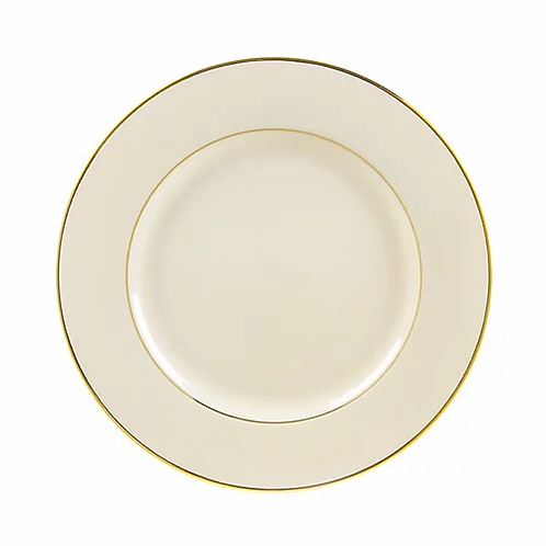 Ivory Double Gold Rimmed Dinner Plate