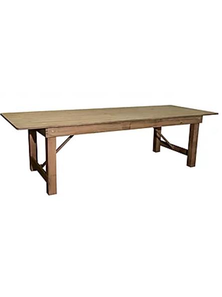 9ft Pinewood Farm Table