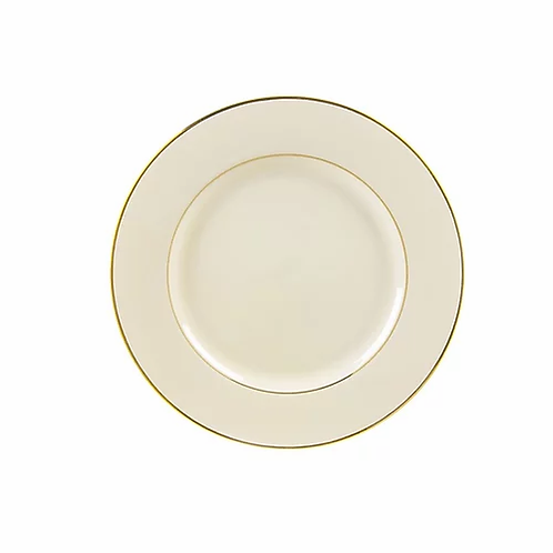 Ivory Double Gold Rimmed Salad Plate