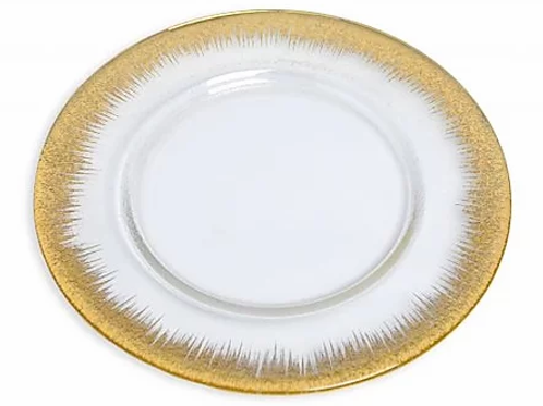 Gold Orizzonte Glass Charger