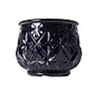 Black Mercury Glass Votive