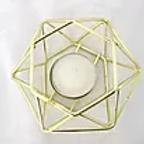 Gold Geometric Tealight Holder