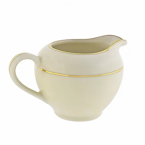 Ivory Double Gold Rimmed Cream Pitcher