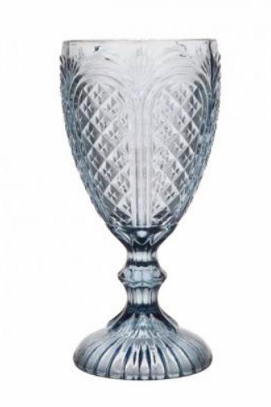 Cornflower Blue Carousel Goblet