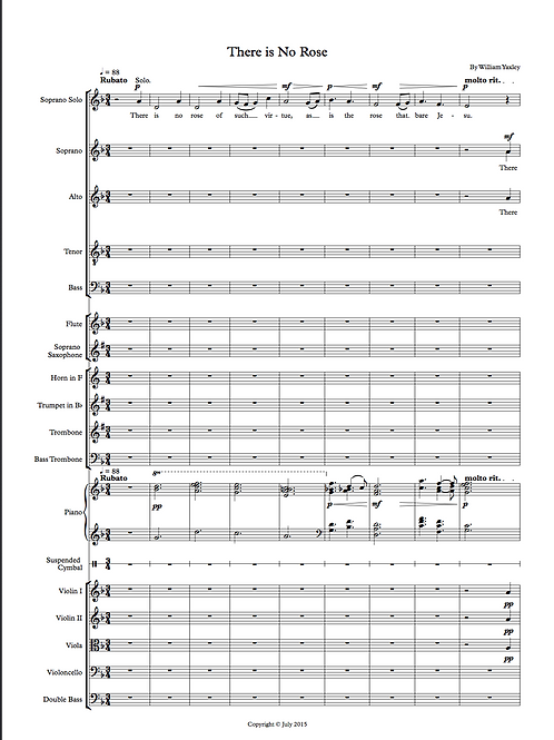 There is no Rose (SSATBB, Orchestra)