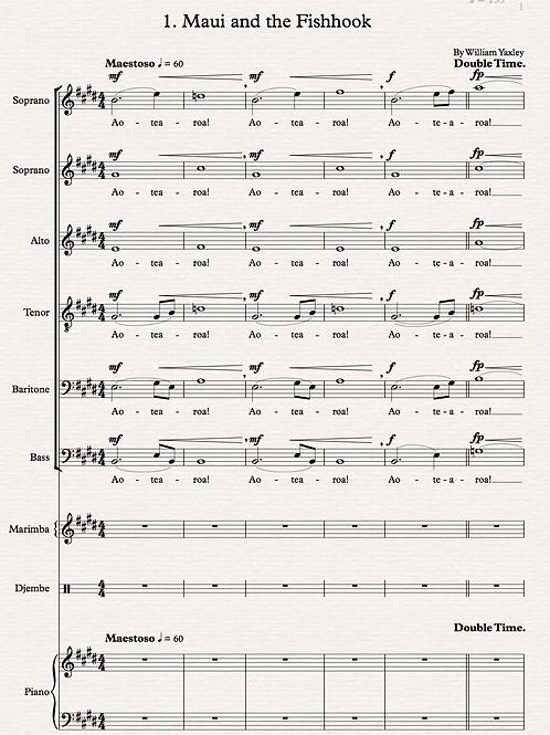 Maui and the Fishhook (SSATBB, Piano, Marimba)