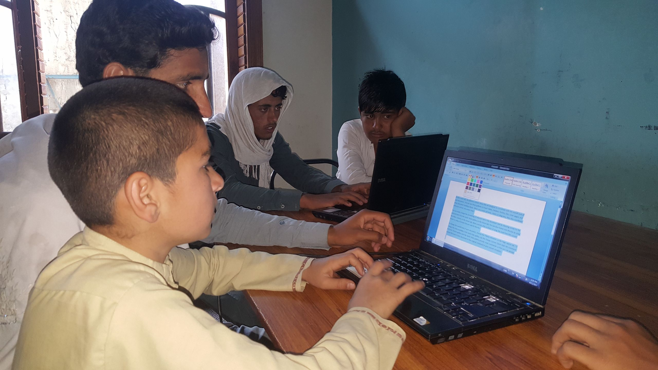 Students at a Computer Class