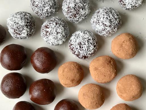 Tahini Chocolate Date Balls