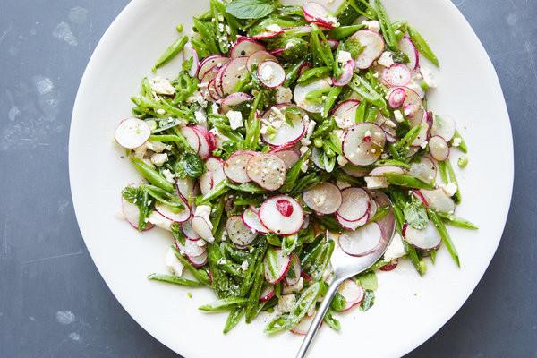 Sugar Snap Pea Salad with Radishes, Mint, and Ricotta Salata