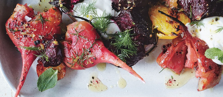 Crushed Beets with Lemon Vinaigrette