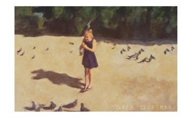 Selfie au pigeon