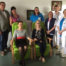 Sympatia ry lahjoitti lepotuolit Hyvinkään sairaalaan 27.5.2019