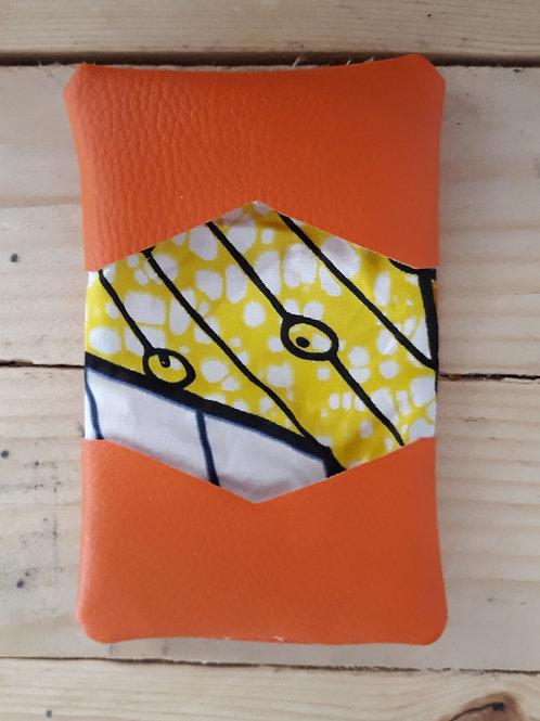 Porte carte orange