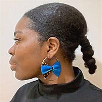 boucles d'oreilles créoles wax
