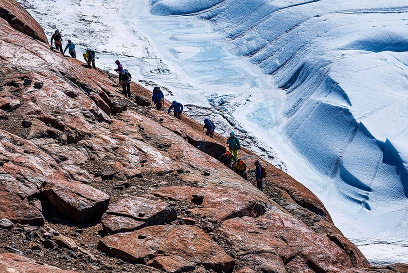 Scale a Blue-ice Glacier