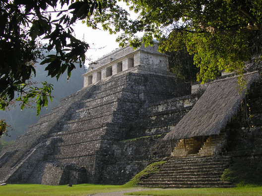 Mayan Temple amidst thick forest