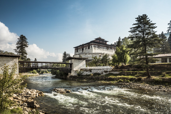 Paro Dzong and Traditional Bridge