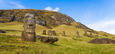 Moai on Rano Raraku Slope
