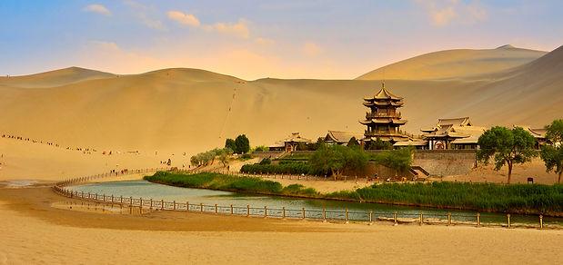 Dunhuang Crescent Lake-landscape-Gansu-W