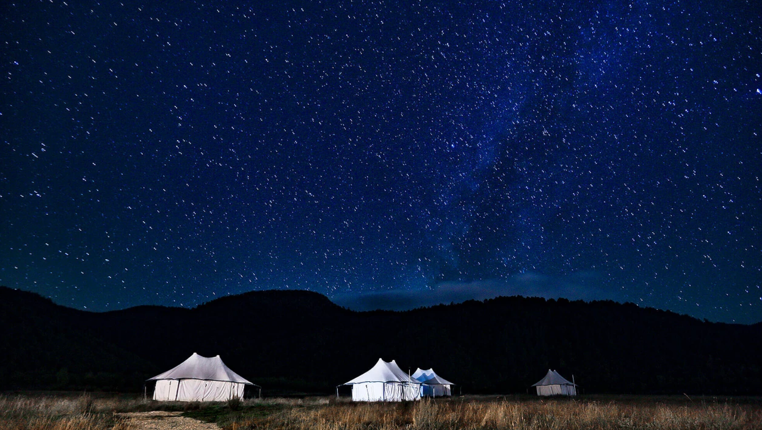 Glamping under the stars surrounded by the stunning mountains