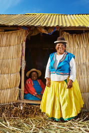 Locals of Lake Titicaca
