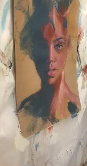 Portrait a l'acrylique