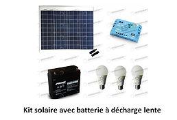 Panneau solaire avec lampe et batterie.j