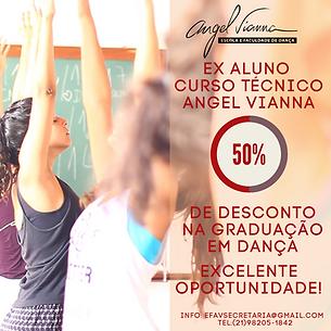 EX ALUNO CURSO TÉCNICO ANGEL VIANNA 50%