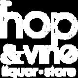 Hop & Vine LRS Logo - white & Transparen