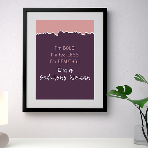 I'M BOLD wall decor (Framed)